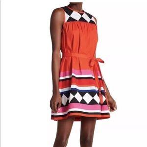 Kate Spade Geo Border Babydoll Dress